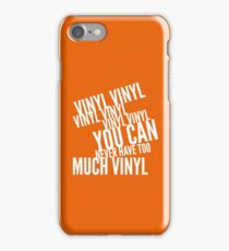 Too many records 2 iPhone Case/Skin