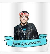 alex gaskarth flower crown Poster