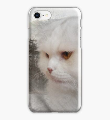 Soft and white like snow with a drop of golden sun iPhone Case/Skin