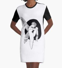 LONELY FAIRY Graphic T-Shirt Dress