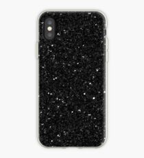 Black Glitter Print iPhone Case