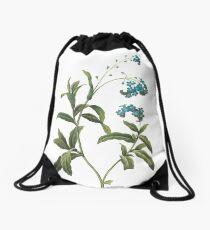 Blue flower Drawstring Bag
