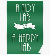 A Tidy Lab is a Happy Lab Poster