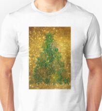 Golden Shinny Christmas Tree Unisex T-Shirt