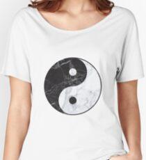 marble yin yang Women's Relaxed Fit T-Shirt