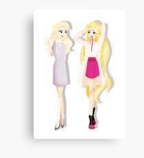 Princesses' Fabulous Hair Metal Print
