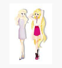 Princesses' Fabulous Hair Photographic Print