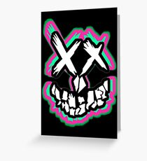 Neon Squad Goals... Greeting Card