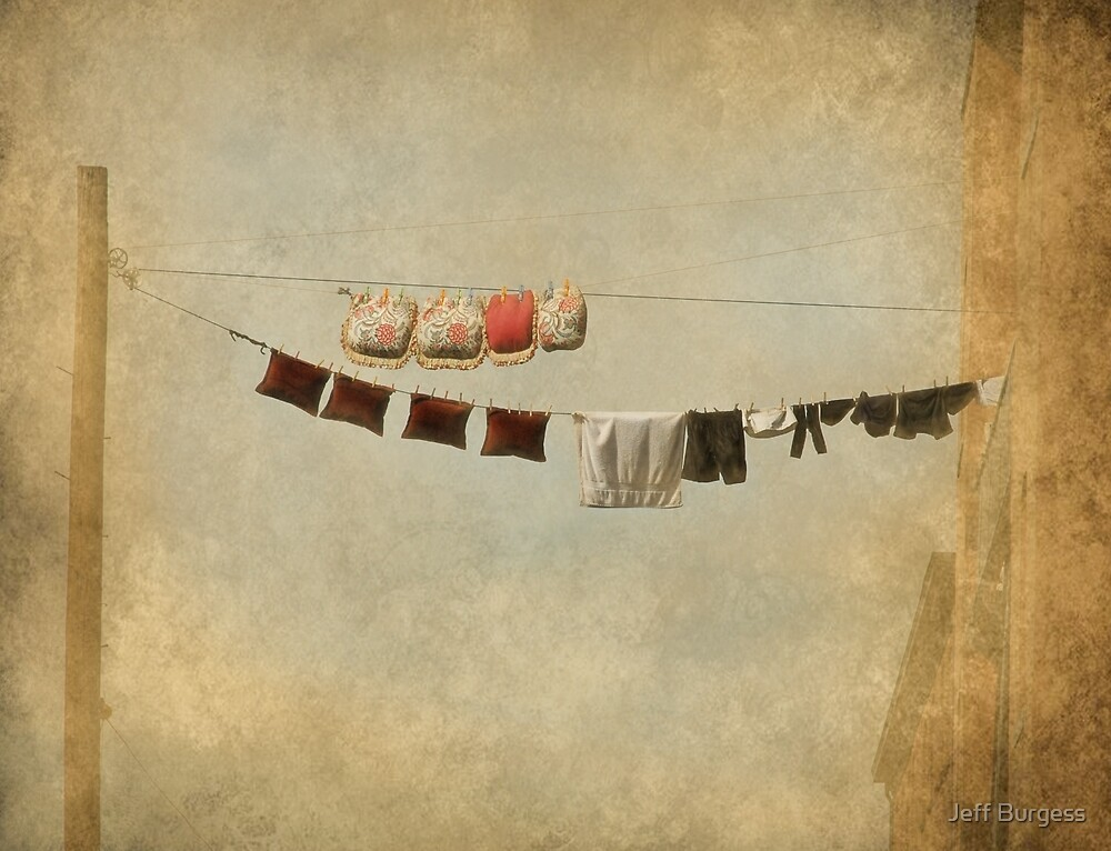 Clothes Drying on the Line by Jeff Burgess
