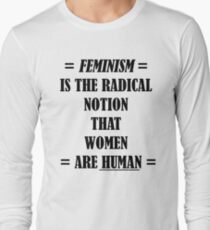 Feminism (black) Long Sleeve T-Shirt