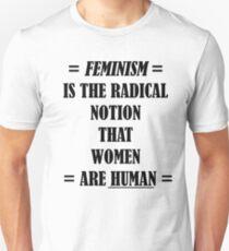 Feminism (black) Unisex T-Shirt