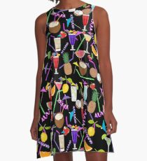 Cocktail drinks pattern A-Line Dress