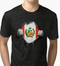 Peru Flag. Proud Peruvian Tri-blend T-Shirt