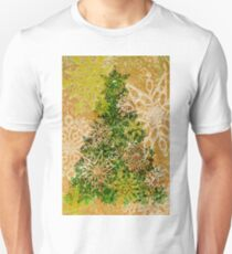 Christmas Tree and snow flakes - Knitting Pattern T-Shirt