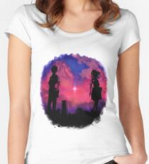 Anime sunset Women's Fitted Scoop T-Shirt