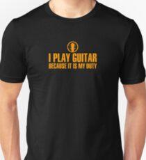 I Play Guitar (orange color) Unisex T-Shirt