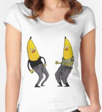 bananas in regular clothing Women's Fitted Scoop T-Shirt