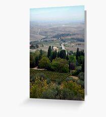 Pienza Landscape Greeting Card