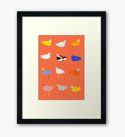 You Funky Bird Framed Print