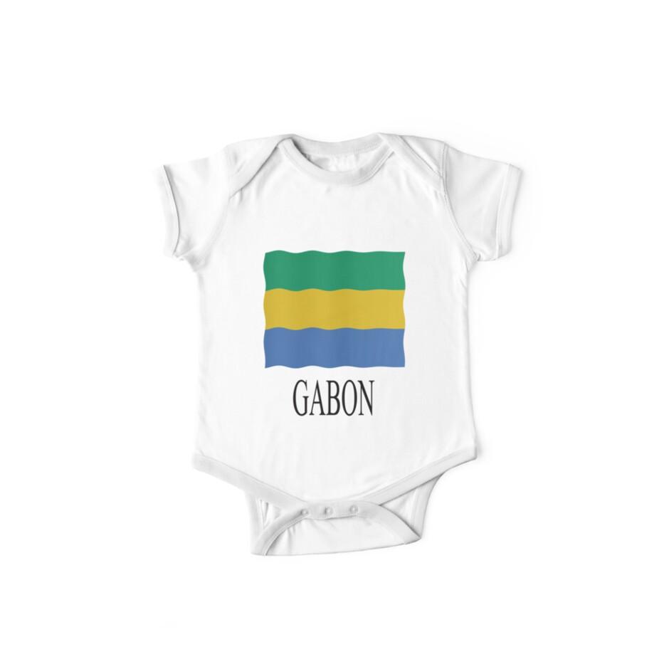 Gabon flag by stuwdamdorp