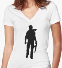 Nathan Drake (Uncharted) Women's Fitted V-Neck T-Shirt
