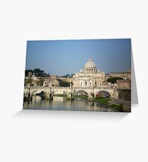 Sunday morning in Rome Greeting Card