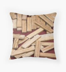 wooden toys for children Throw Pillow