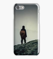 The mountain wanderer. Hipster, dark colors iPhone Case/Skin
