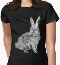 White Rabbit (Monochromatic Hue Series) Womens Fitted T-Shirt