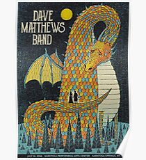 Dave Matthews Band, Tour 2016, Saratoga Performing Arts Center, Saratoga Springs, NEW YORK Poster
