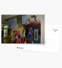 Gym mural Postcards