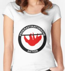 Procrastinatory action Women's Fitted Scoop T-Shirt