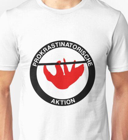 Prokrastinatorische Aktion Unisex T-Shirt