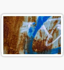 Grunge texture & background: colorful rusty metal texture Sticker