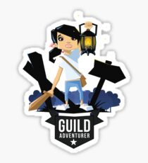 Girl Adventurer Sticker