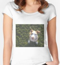 APBT looking up Women's Fitted Scoop T-Shirt