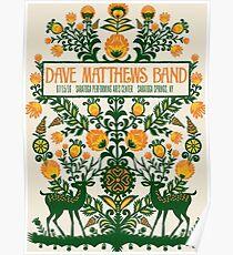 Dave Matthews Band, Tour 2016, SARATOGA PERFORMING ARTS CENTER SARATOGA SPRINGS NY Poster
