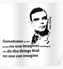 Turing  - Black and White Style Poster