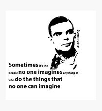 Turing  - Black and White Style Photographic Print