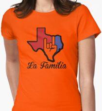 Texas-La Familia Womens Fitted T-Shirt