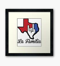 Texas-La Familia Framed Print