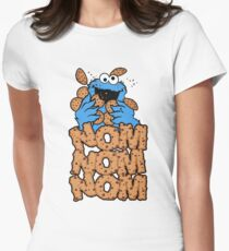 Cookie monster - Nom Nom Nom Womens Fitted T-Shirt