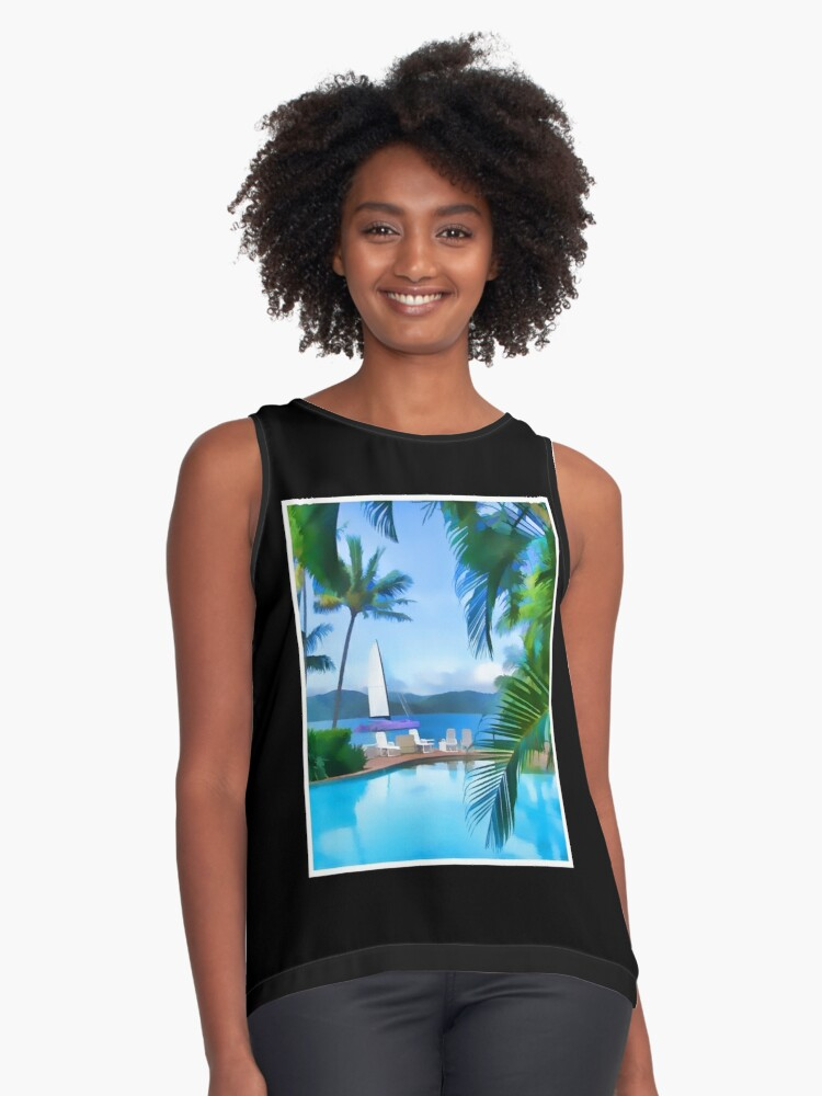 Day Dream Island Contrast Tank Front