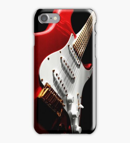 Electric Guitar #1 Red iPhone Case/Skin