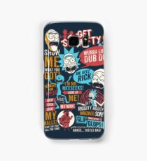 Rick & Morty Quotes Samsung Galaxy Case/Skin