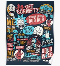 Rick & Morty Quotes Poster