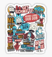 Rick & Morty Quotes Sticker