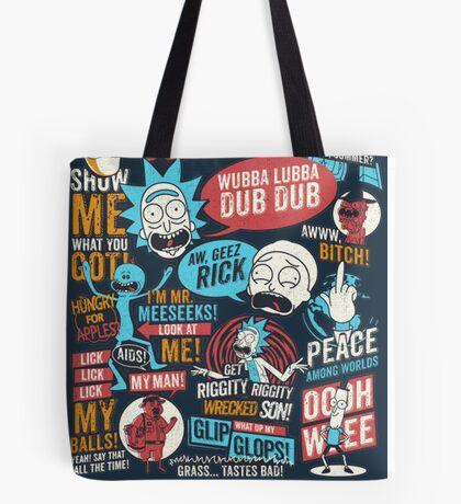 Rick & Morty Quotes Tote Bag