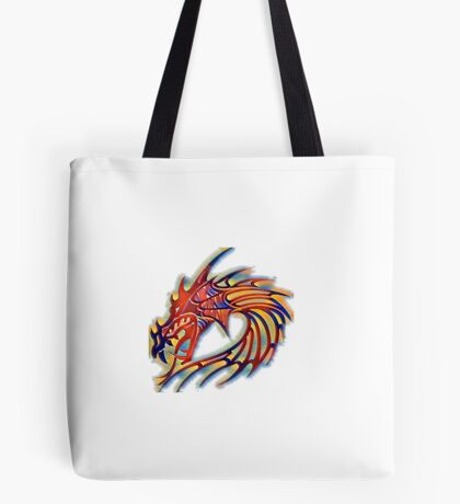 Color red dragon head  Tote Bag