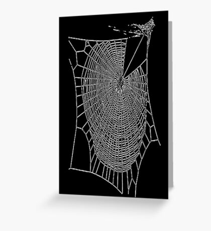 A Large Illustration Of A Spider's Web Greeting Card